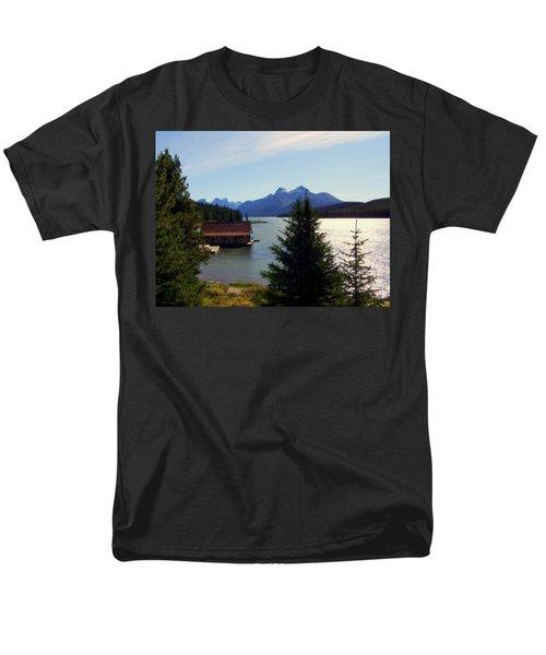 Maligne Lake Boathouse T-Shirt by KAREN WILES