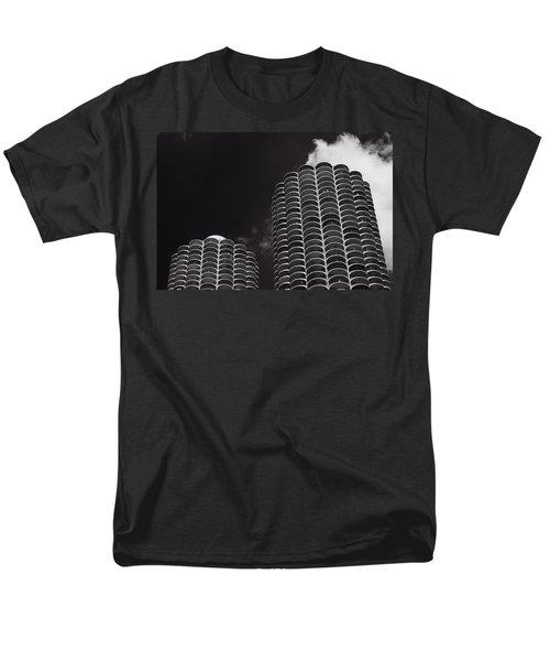 Marina City Morning B W T-Shirt by Steve Gadomski