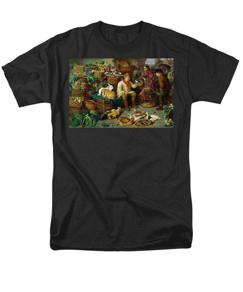 Market Scene Men's T-Shirt  (Regular Fit) by Henry Charles Bryant