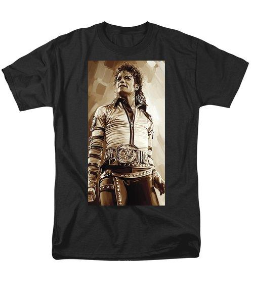 Michael Jackson Artwork 2 Men's T-Shirt  (Regular Fit) by Sheraz A