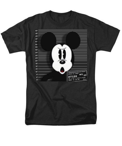 Mickey Mouse Disney Mug Shot T-Shirt by Tony Rubino