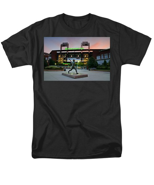 Mike Schmidt Statue at Dawn T-Shirt by Bill Cannon
