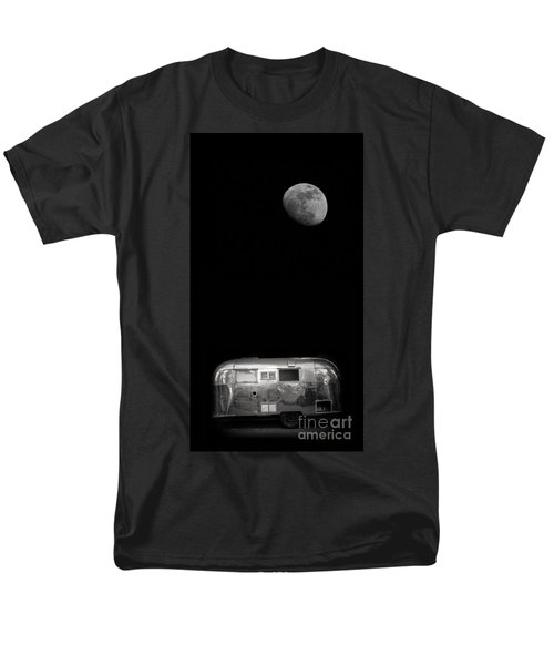 Moonrise over Airstream T-Shirt by Edward Fielding