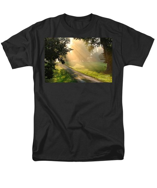 Morning on Country Road T-Shirt by Olivier Le Queinec