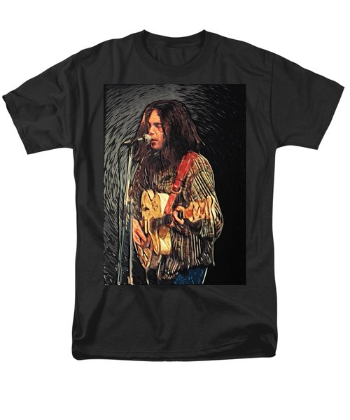 Neil Young Men's T-Shirt  (Regular Fit) by Taylan Soyturk