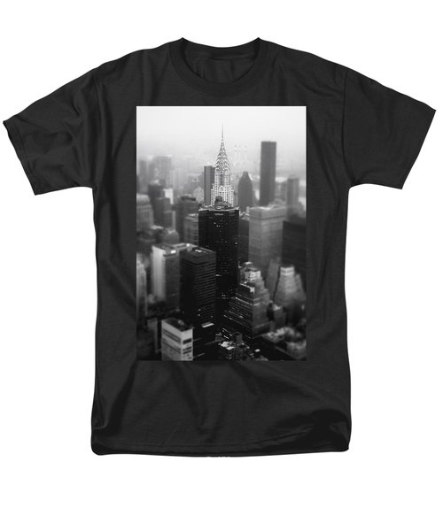 New York City - Fog And The Chrysler Building Men's T-Shirt  (Regular Fit) by Vivienne Gucwa