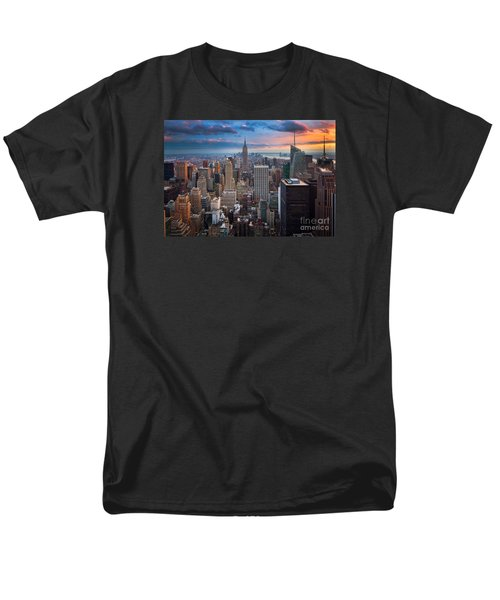 New York New York Men's T-Shirt  (Regular Fit) by Inge Johnsson
