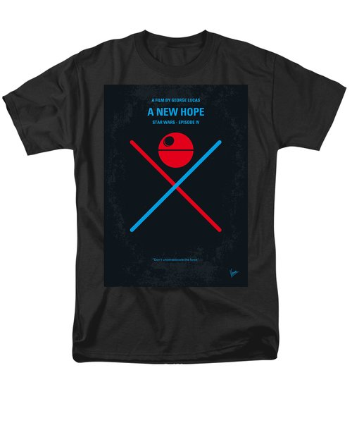 No154 My Star Wars Episode Iv A New Hope Minimal Movie Poster Men's T-Shirt  (Regular Fit) by Chungkong Art