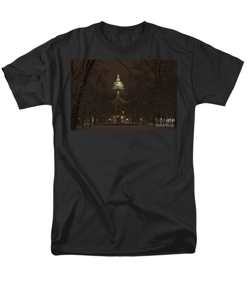 Notre Dame Golden Dome Snow T-Shirt by John Stephens
