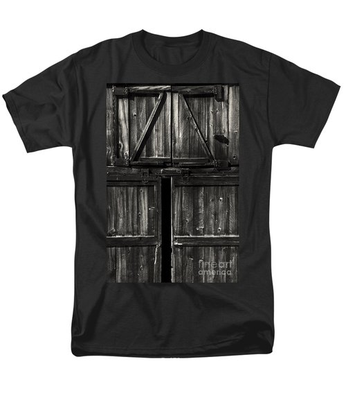 Old Barn Door - BW T-Shirt by Paul W Faust -  Impressions of Light