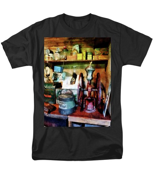 Old-Fashioned Coffee Grinder T-Shirt by Susan Savad