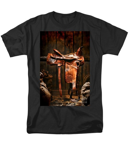 Old Western Saddle T-Shirt by Olivier Le Queinec