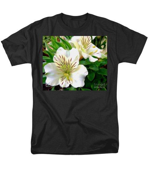 Painterly Alstroemeria T-Shirt by Kaye Menner