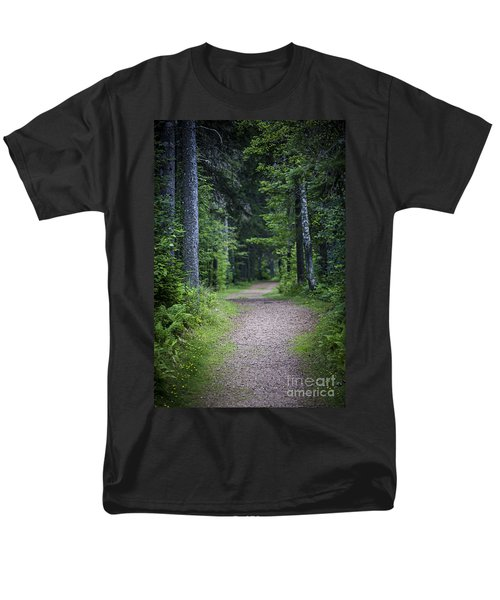 Path in dark forest T-Shirt by Elena Elisseeva