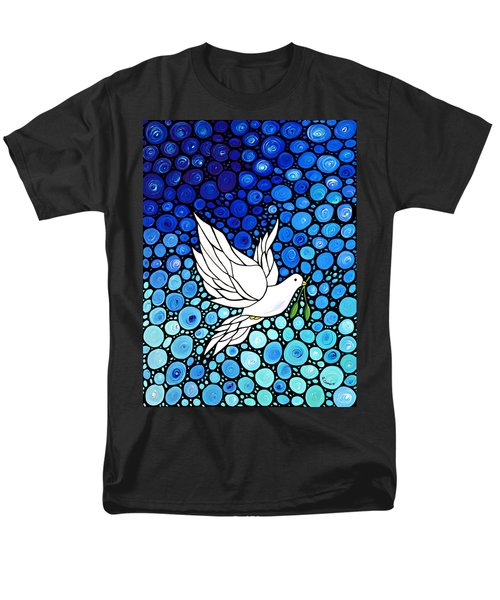 Peaceful Journey - White Dove Peace Art T-Shirt by Sharon Cummings