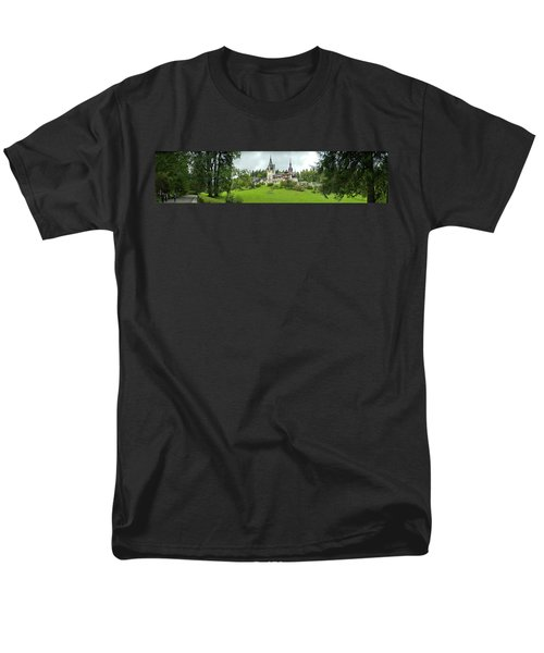 Peles Castle In The Carpathian Men's T-Shirt  (Regular Fit) by Panoramic Images
