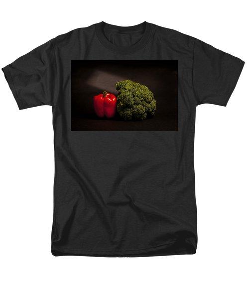 Pepper Nd Brocoli Men's T-Shirt  (Regular Fit) by Peter Tellone