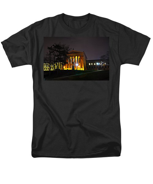 Philadelphia Art Museum  at Night from the Rear T-Shirt by Bill Cannon