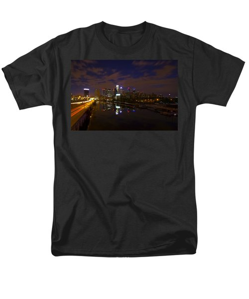 Philadelphia From South Street At Night T-Shirt by Bill Cannon
