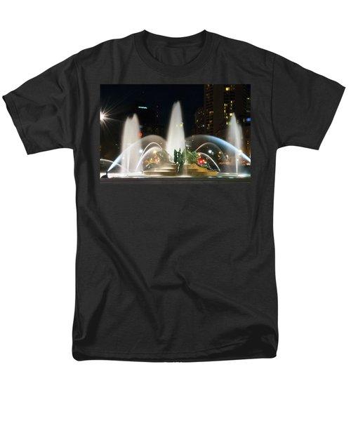 Philadelphia - Swann Fountain - Night T-Shirt by Bill Cannon