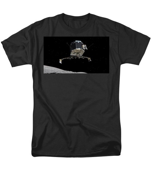 Men's T-Shirt  (Regular Fit) featuring the photograph Philae Lander Descending To Comet 67pc-g by Science Source