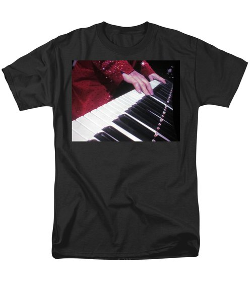 Piano Man at work T-Shirt by Aaron Martens