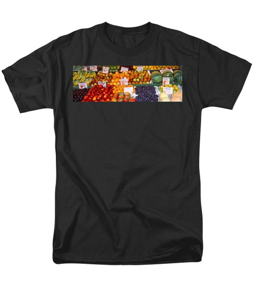 Pike Place Market Seattle Wa Usa Men's T-Shirt  (Regular Fit) by Panoramic Images