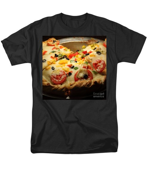 Pizza Pie - 5D20700 - square T-Shirt by Wingsdomain Art and Photography