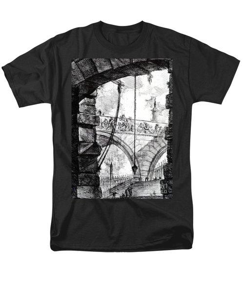 Plate 4 From The Carceri Series Men's T-Shirt  (Regular Fit) by Giovanni Battista Piranesi