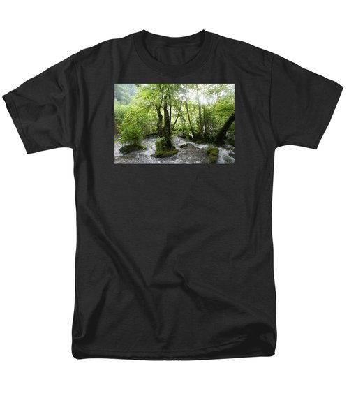 Men's T-Shirt  (Regular Fit) featuring the photograph Plitvice Lakes by Travel Pics