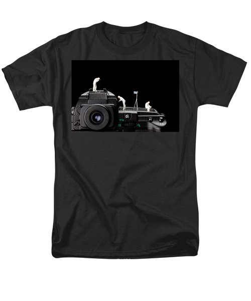 Police investigate on a camera T-Shirt by Paul Ge