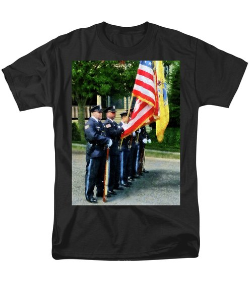 Policeman - Police Color Guard T-Shirt by Susan Savad