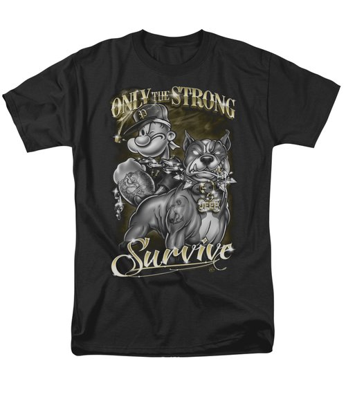 Popeye - Only The Strong Men's T-Shirt  (Regular Fit) by Brand A