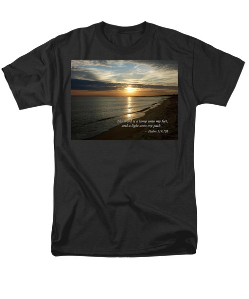 Psalm 119-105 Your Word Is a Lamp T-Shirt by Susan Savad