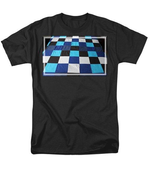 Quilt Blue Blocks T-Shirt by Barbara Griffin