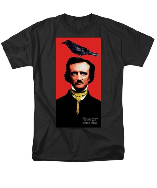 Quoth The Raven Nevermore - Edgar Allan Poe - Electric T-Shirt by Wingsdomain Art and Photography