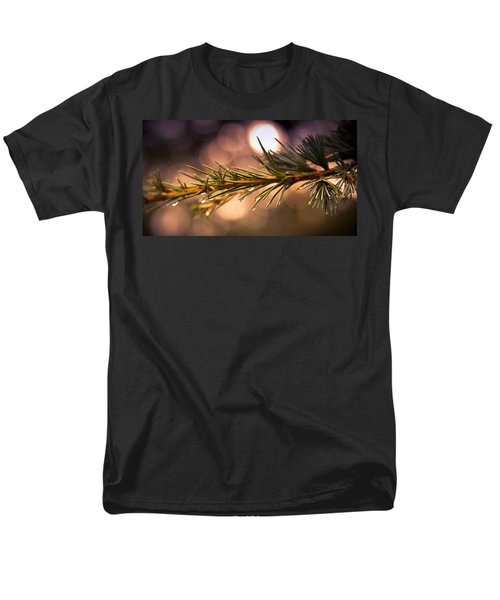 Rain Droplets on Pine Needles T-Shirt by Loriental Photography