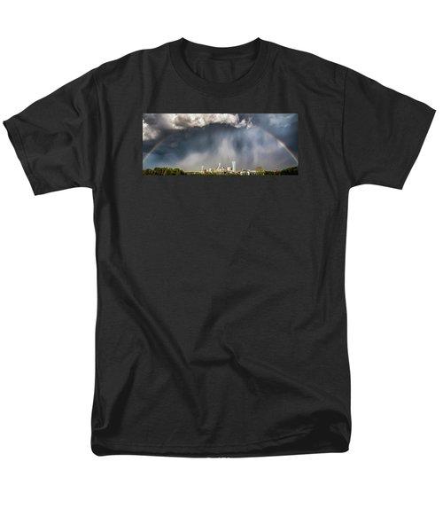Rainbow over Charlotte T-Shirt by Chris Austin