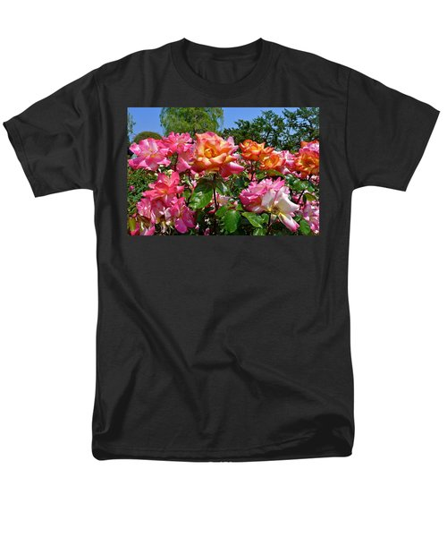 Rainbow Sorbet Roses T-Shirt by Denise Mazzocco