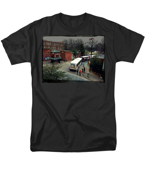 Raleigh Bus Terminal - Evening T-Shirt by Paulette B Wright