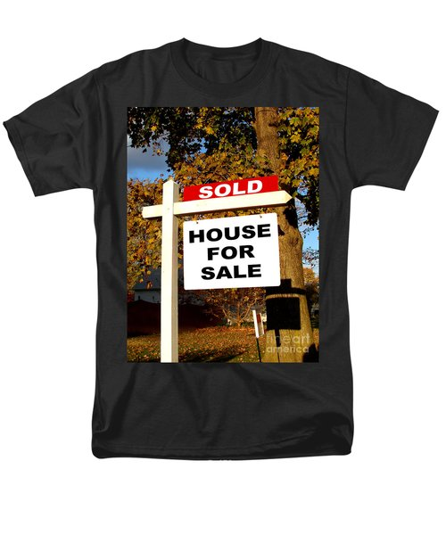 Real Estate Sold and House For Sale Sign on Post T-Shirt by Olivier Le Queinec