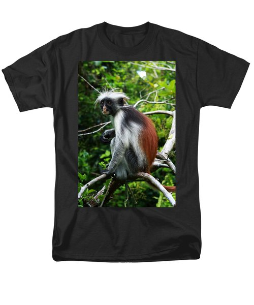Red Colobus Monkey T-Shirt by Aidan Moran