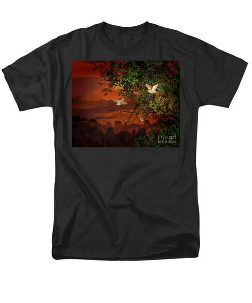 Red Dawn Sparrows T-Shirt by Bedros Awak