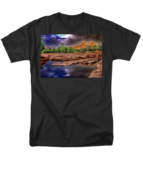 Red Rock Crossing Red Rock State Park T-Shirt by  Bob and Nadine Johnston