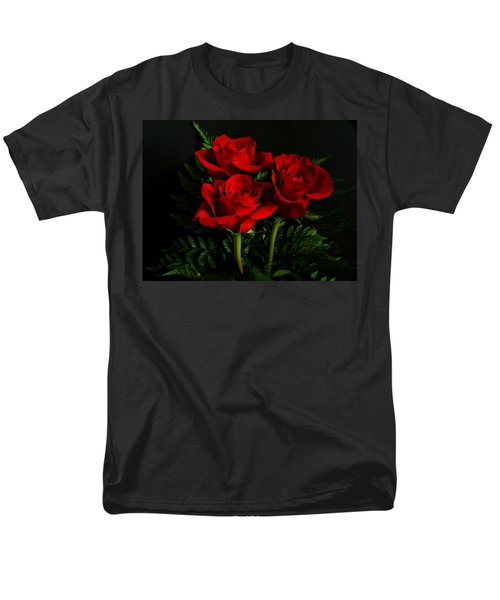 Red Roses T-Shirt by Sandy Keeton