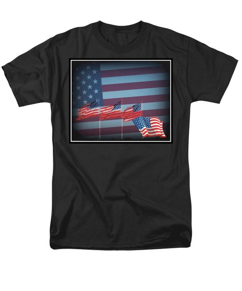Red White And Blue T-Shirt by Kay Novy
