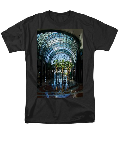 Reflecting on Palm Trees and Arches T-Shirt by Georgia Mizuleva