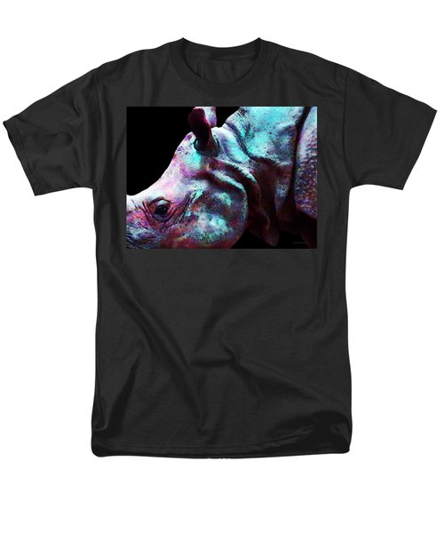 Rhino 1 - Rhinoceros Art Prints T-Shirt by Sharon Cummings