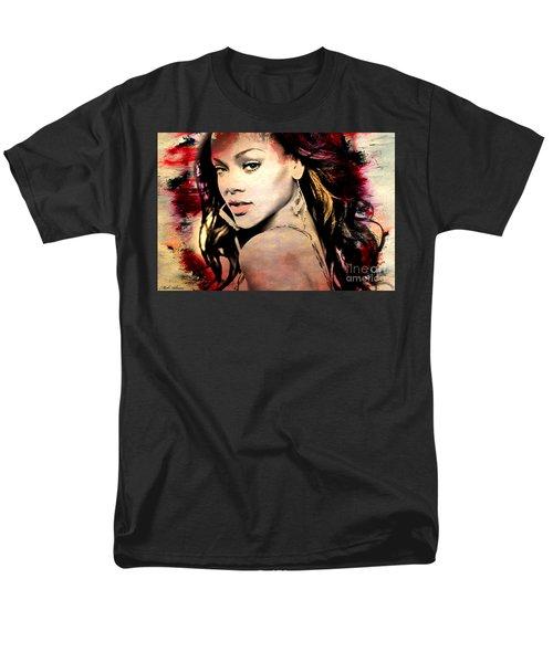 Rihanna Men's T-Shirt  (Regular Fit) by Mark Ashkenazi