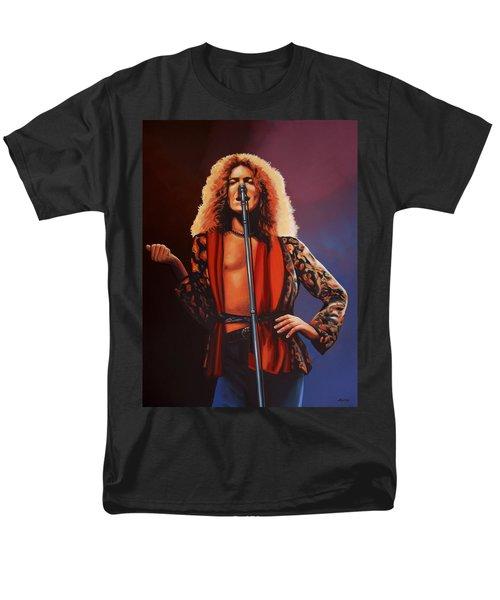 Robert Plant Of Led Zeppelin Men's T-Shirt  (Regular Fit) by Paul Meijering
